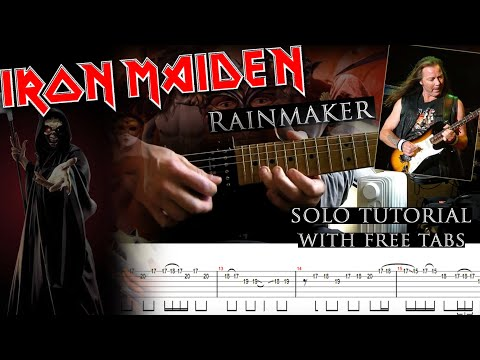 Iron Maiden - Rainmaker Dave Murray's Solo Lesson (with Tablatures And Backing Tracks)