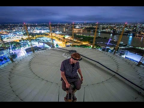 CLIMBING THE O2 ARENA! Doing flips on the bouncy roof!