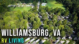 RV Living in Williamsburg, VĄ Campground   American Heritage RV Park (CHANNEL UPDATES)