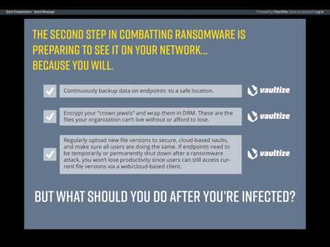 Webinar: Vaultize Ransomware Defense and Recovery