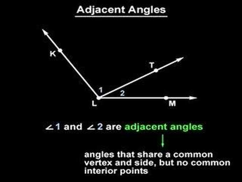 Adjacent Angles Geometry Help Youtube