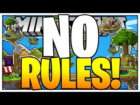 THERES NO RULES AT ALL?! - LUCKY BLOCK SKYWARS - Modded Minigame | JeromeASF