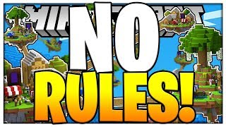 THERES NO RULES AT ALL?!  - LUCKY BLOCK SKYWARS - Modded Minigame