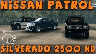 Spin Tires | Nissan Patrol [Power Mod] And Chevy Silverado 2500 HD | Download Links In Description