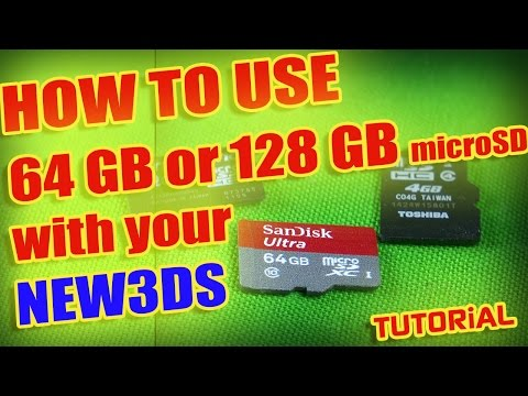 [HOW TO USE] *64 or 128 GB* Micro SDXC with NEW3DS!!!
