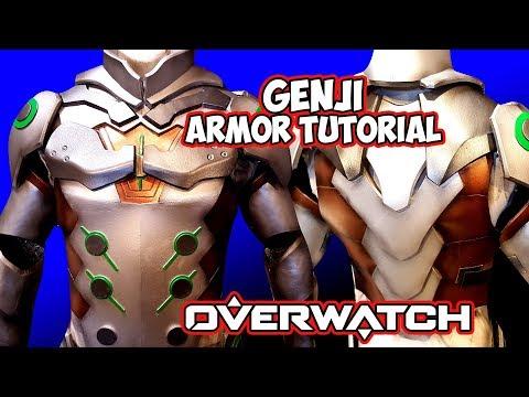 DIY  Genji - Overwatch Foam Cosplay full armor Build