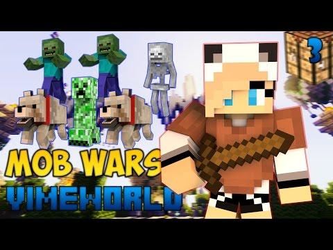 Minecraft Mob Wars #3|ЗАБОЛЕЛА:((VimeWorld)