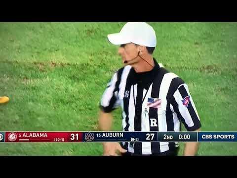 Auburn Vs Alabama (Iron Bowl) 1 Sec Halftime Field Goal-Nick Saban Blows A Fuse