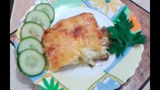Рецепт запеканки с фаршем, картофелем и сыром в духовке