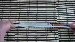 самодельный штык нож из рессоры