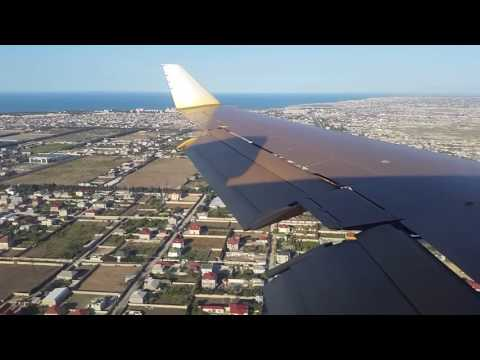 Silk Way Business Aviation B727 200 Landing at Baku, Azerbaijan   Window View