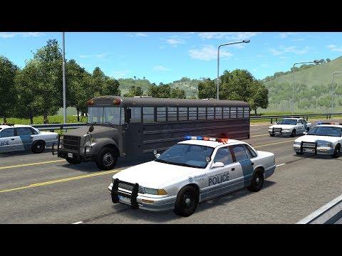 Police Motorcade Attacks | BeamNG.drive