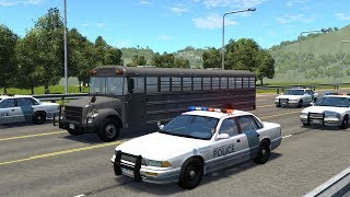 Police Motorcade Attacks | BeamNG.drive