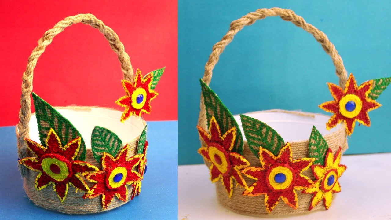 Recycling Crafts Ideas How To Make A Small Gift Basket At Home