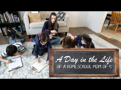 A Day in the Life of a Homeschool Mom of 5