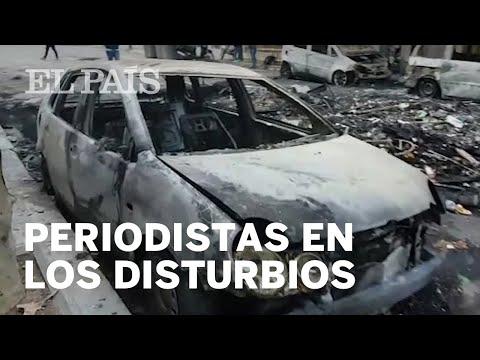 Así han vivido los periodistas de EL PAÍS la noche de disturbios en Barcelona