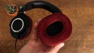 audio technica ath m50 earpad replacement velour