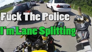 Indiana Lane Splitting / Lady Gets Mad! FTP!