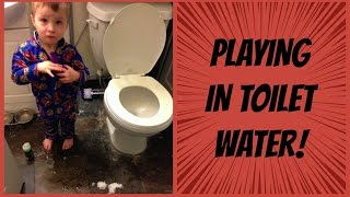 PLAYING IN TOILET WATER! | Day 251 - 01.28.16
