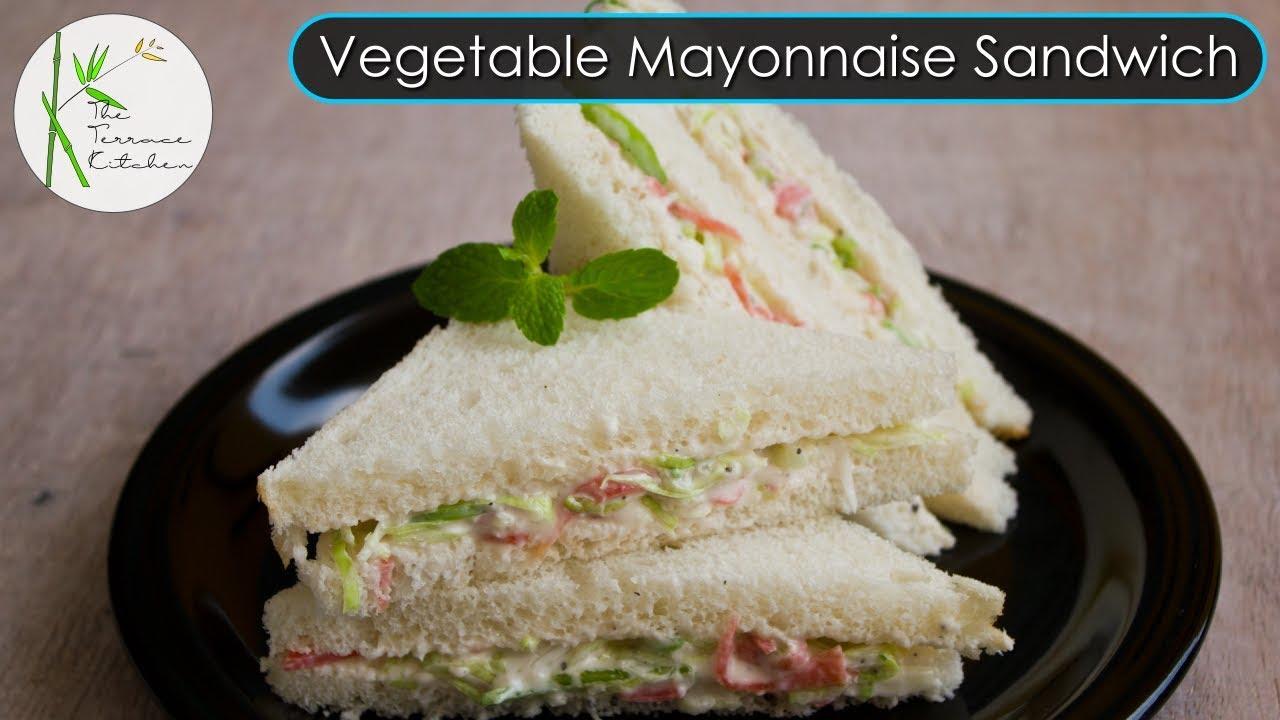 Mayonnaise Sandwich Recipe Veg Mayo Sandwich Kids Lunchbox Recipe The Terrace Kitchen Youtube