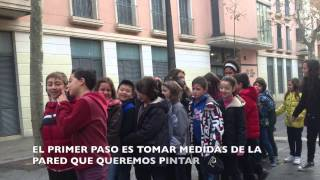DFC España Creando grafitis  FET  Sta Teresa  Vilanova i la Geltrú