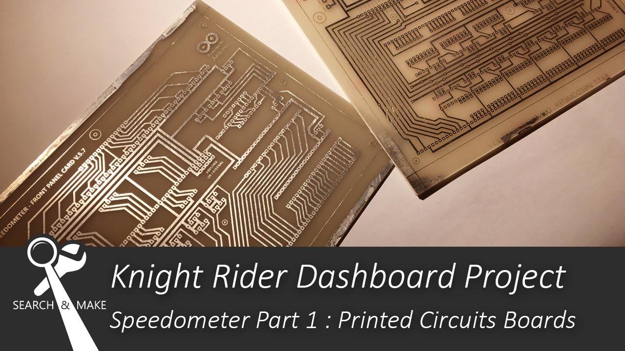 Knight Rider Dashboard Part 1 Module Compteur De Vitesse Youtube Strange Led Sequencer Speedometer Cluster