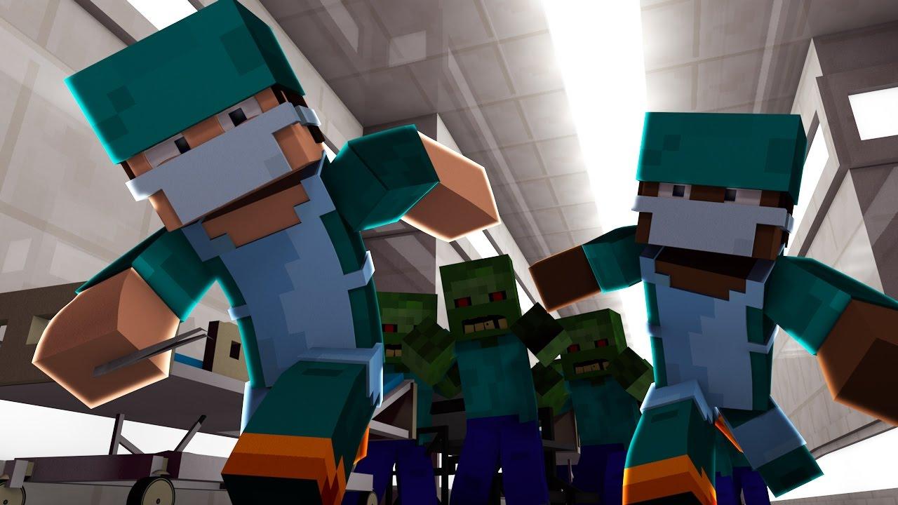 Minecraft Good Vs Evil Zombie Horde Attacks Doctors Vs