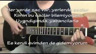 Kalben - Saçlar (Akor Gitar Karaoke)