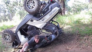Bad Can Am Commander RollOver