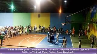Isaías Thomas gana Concurso de Clavadas.Juego de Estrellas Liga ACB 2016