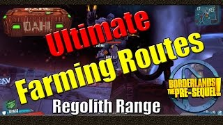 Borderlands The Pre Sequel | Ultimate Farming Routes | Regolith Range
