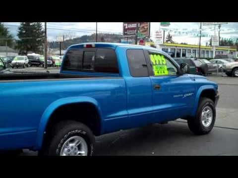 2000 dodge dakota 4x4 club cab slt youtube. Black Bedroom Furniture Sets. Home Design Ideas