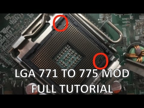 LGA 771 to 775 MOD  HACK YOUR MOTHERBOARD TO HANDLE A CHEAP