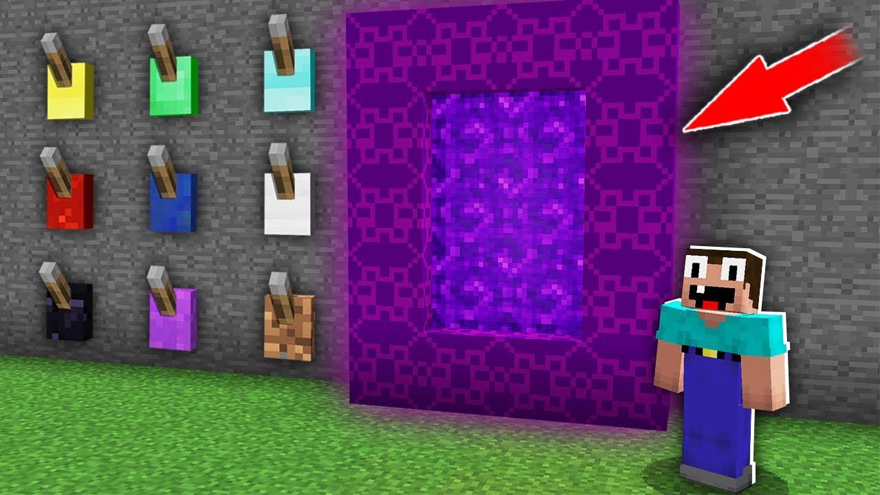 Minecraft NOOB vs PRO: CAN NOOB CHOOSE THIS 1000 LEVER TO OPEN SECRET PORTAL? 100% trolling