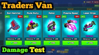 Traders Van Damage Test   Unique But Op? - Pixel Gun 3D