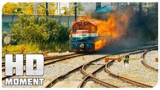 Авария поездов на станции - Поезд в Пусан (2016) - Момент из фильма