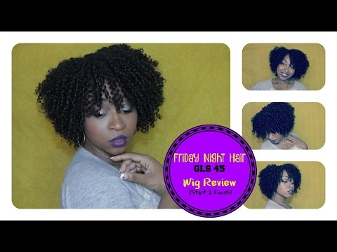 HOW TO CUT,  SHAPE & STYLE CURLY WIG   FRIDAY NIGHT HAIR GLS45   (Start to finish) ☆   SamoreLoveTV