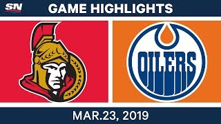 NHL Game Highlights | Senators vs. Oilers – March 23, 2019