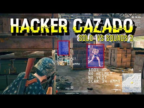 HACKER CAZADO   SOLO VS SQUADS #2   PUBG   EMOLIO PC GAMEPLAY