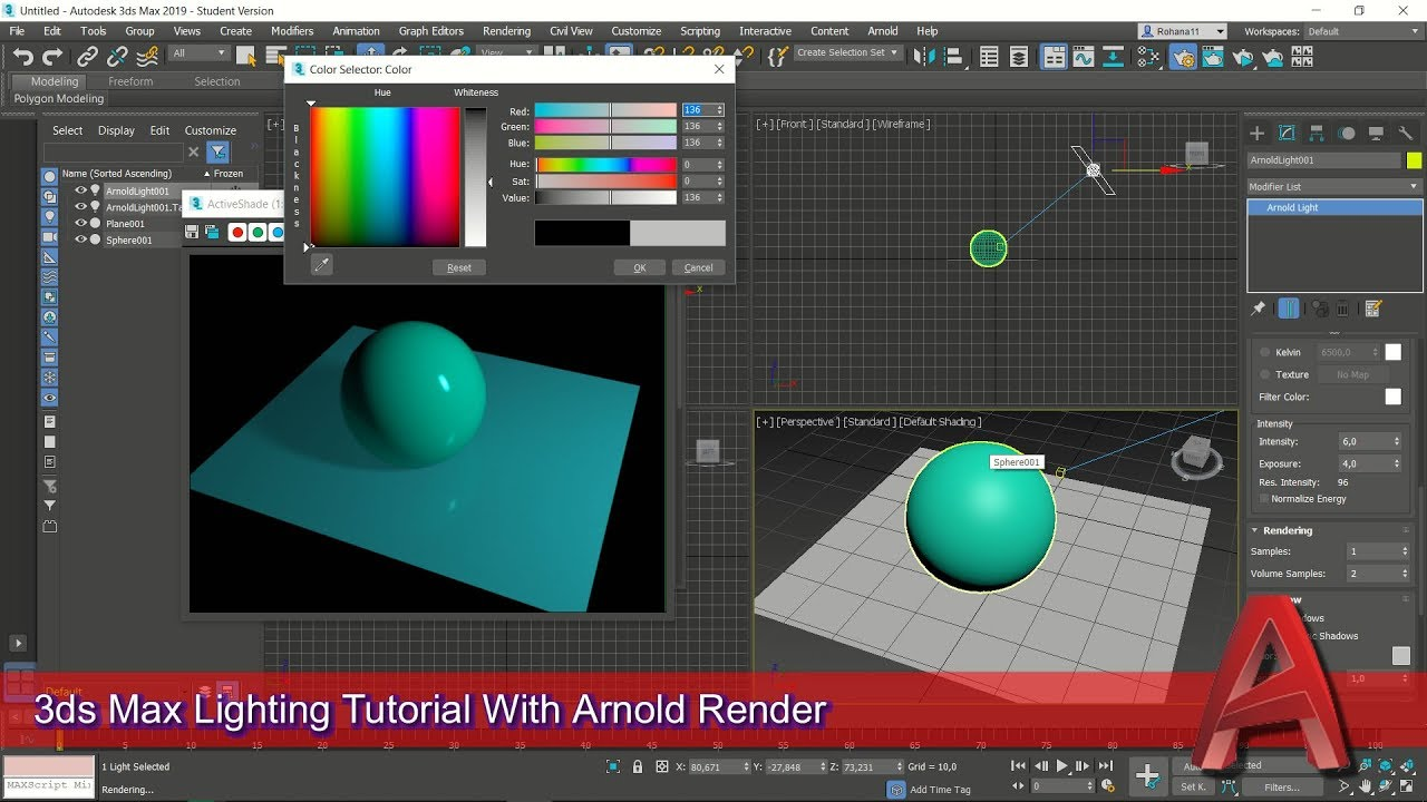 S Max Lighting Tutorial With Arnold Render For Beginner