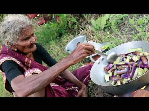 My 105 years Grandma's Yummy Brinjal Curry  |  World Best Brinjal Recipe | Country Foods