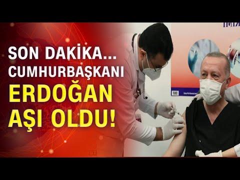 Cumhurbaşkanı Erdoğan aşı oldu!