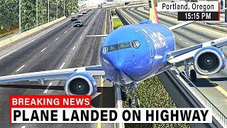 Boeing 737 made UNBELIEVABLE Landing on HIGHWAY in Portland   X-Plane 11