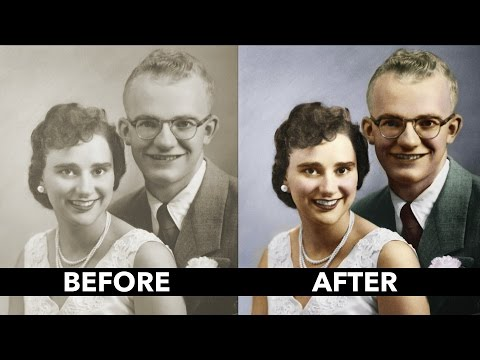 How to Add Color to a Black and White Vintage Photo: Basics Tutorial