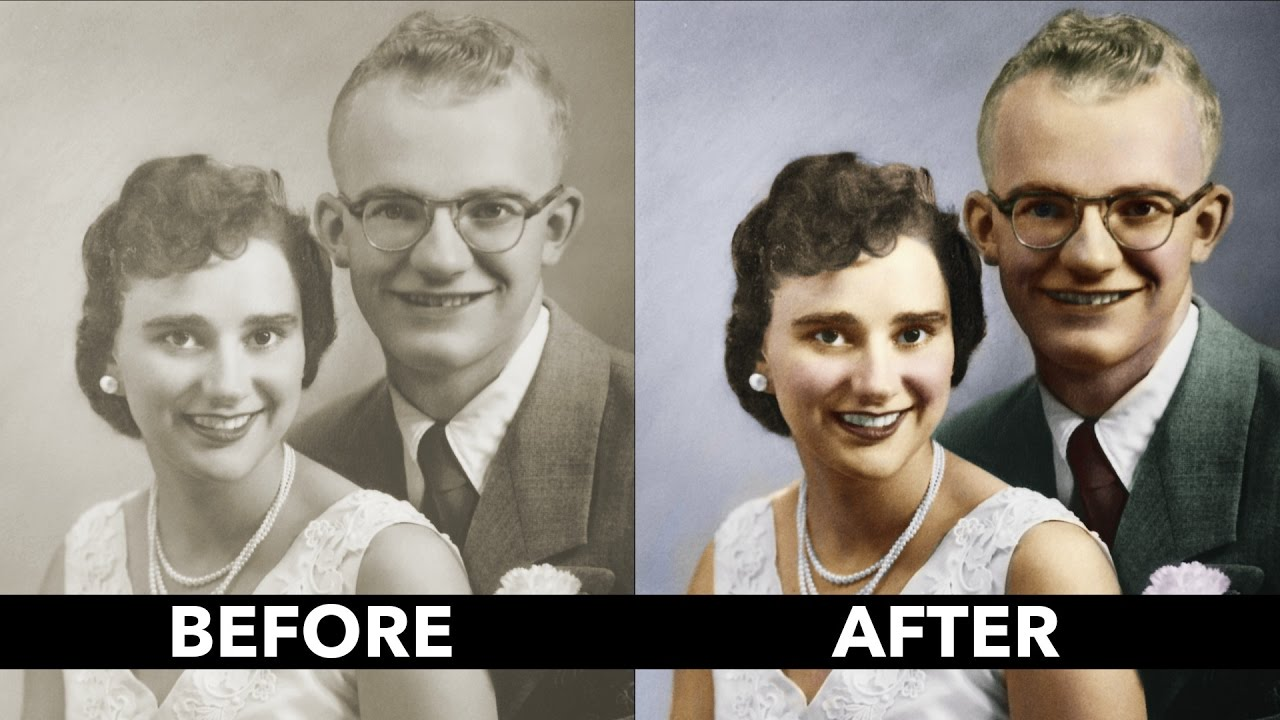 How to add color to a black and white vintage photo basics tutorial