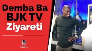 Demba Ba'nın BJK TV Ziyaretinden Eğlenceli Görüntüler