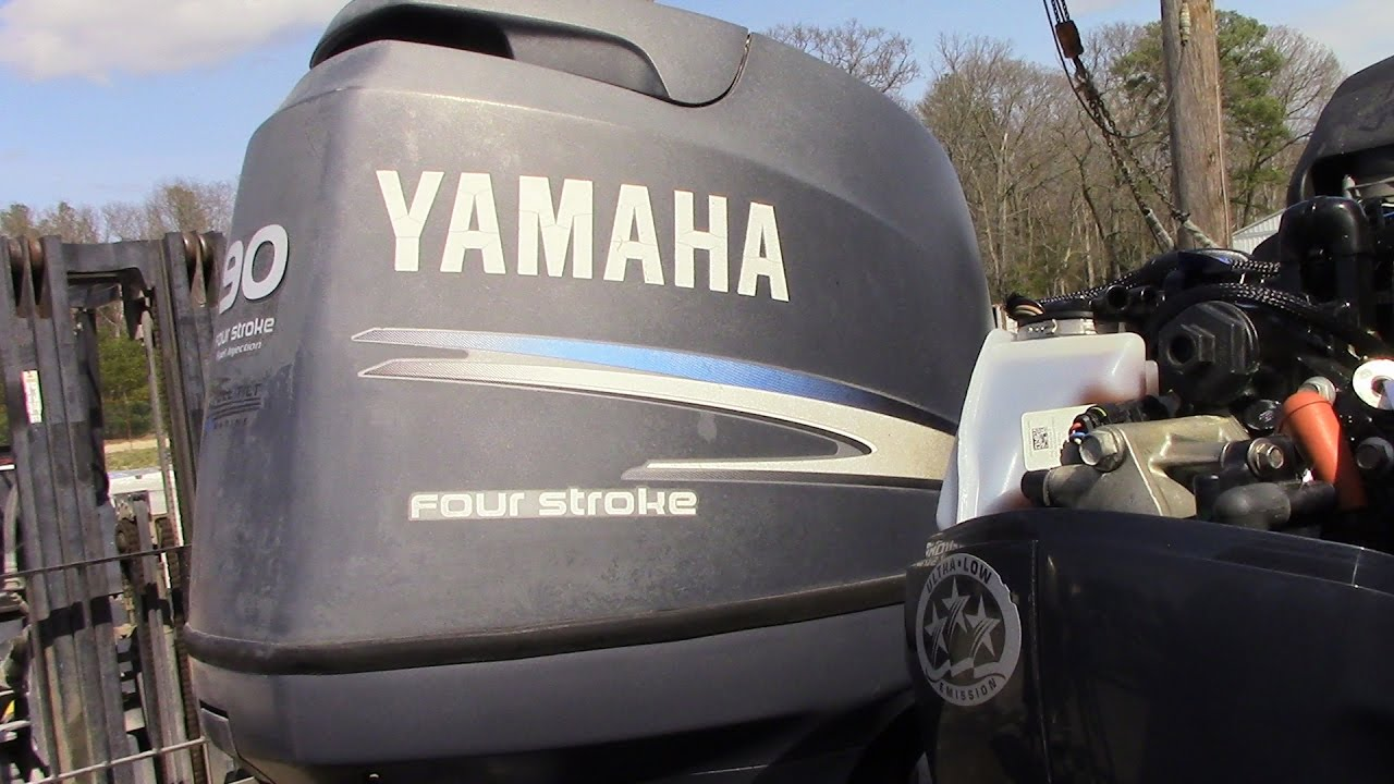 6m6f42 used 2006 yamaha f90tlr 90hp 4 stroke outboard boat for Yamaha 90hp 4 stroke weight