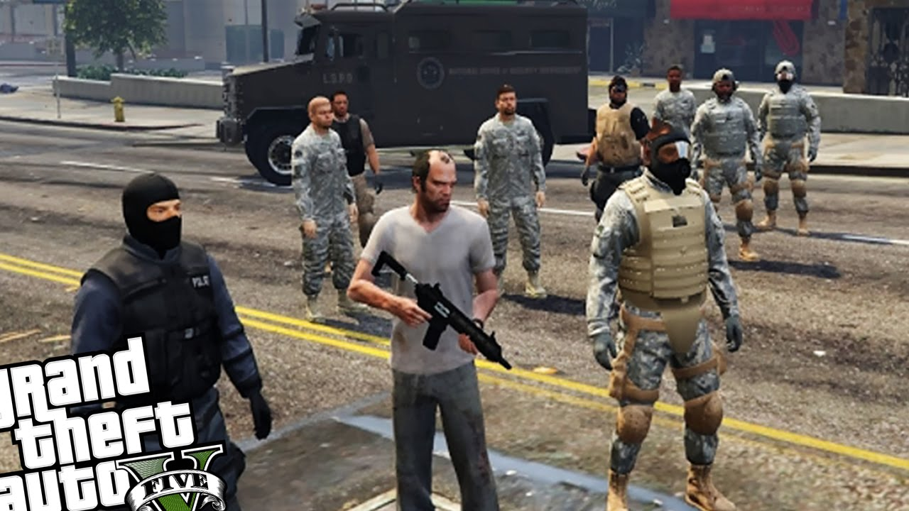 bodyguard army vs zombie horde gta 5 pc mod zombie