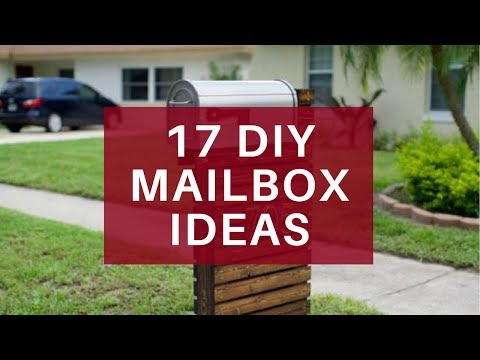 17 Easy DIY Mailbox Ideas - Decorative Mailbox Designs
