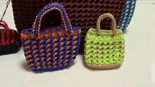 鉤針編織包包 - YouTube
